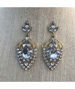 Elegant Rhinestones Oval Earrings. NEW. - $12.77