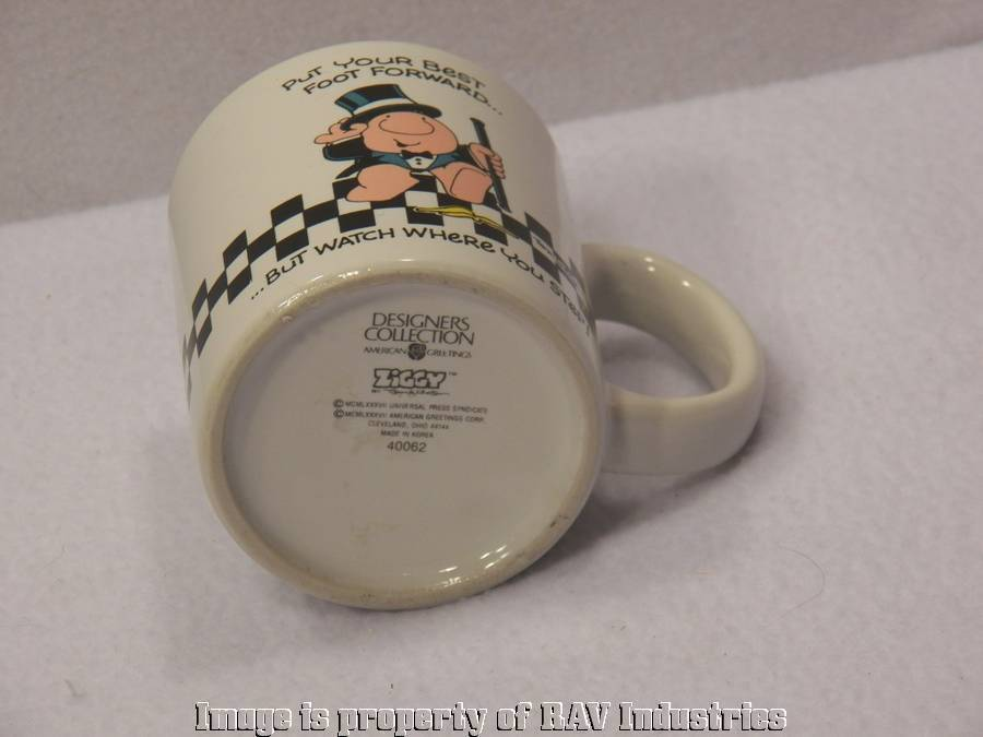 1987 American Greetings Ziggy Coffee Mug Cup Put Your Best Foot Forward