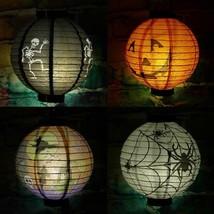 Halloween Decoration Paper Pumpkin Hanging Lantern Light Lamp Decoration... - $13.46