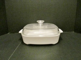 """CORNING WARE 10"""" White Microwave Browning Dish Skillet MW-A-10 w/ Pyrex ... - $35.60"""
