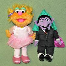 GUND Sesame Street ZOE BALLERINA + Sesame Place COUNT Plush Stuffed Doll... - $28.05
