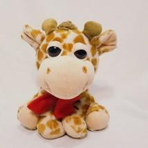 "Giraffe Large Eyes Scarf Plush Stuffed Animal 9"" Best Made Toys International - $21.89"