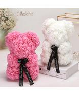 25cm Red Rose Teddy Bear Rose Flower Artificial Decoration Valentine Gifts - $22.00