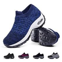 Women's Walking Shoes Sock Sneakers - Breathable Mesh Slip On Lady Girls... - $31.90