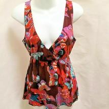 Anthropologie Lilka Sz S Top Butterfly Boho Empire Waist Sleeveless Shirt - $21.54