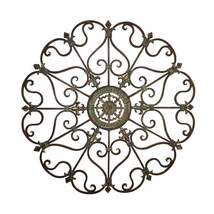 Benzara BM03245 Fabulous Metal Wall Decor With Intricate Design Bronze - $53.99
