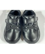 Stride Rite Boys Round Toe Lace Up And Hook Toddler Shoes Black Size 4 M - $24.74