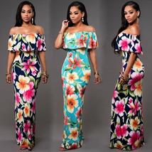 Evening New Women Floral Summer Beach Boho Party Sexy Maxi Long Dress Su... - €18,93 EUR