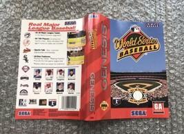 World Series Baseball **ORIGINAL CASE/BOX ART ONLY** Sega Genesis - $4.27