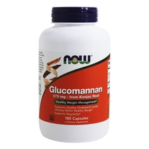 NOW Foods Glucomannan 575 mg., 180 Capsules - $14.19