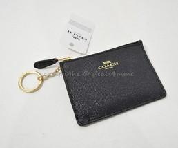 NWT! Coach F11836 Mini Skinny ID Case/ Key Ring/ Coin Purse. Midnight/Li... - $49.00
