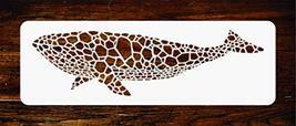 Whale Stencil - 8 x 2.25 inch - Reusable Mosaic Fish Blue Whale Wall Ste... - $13.79