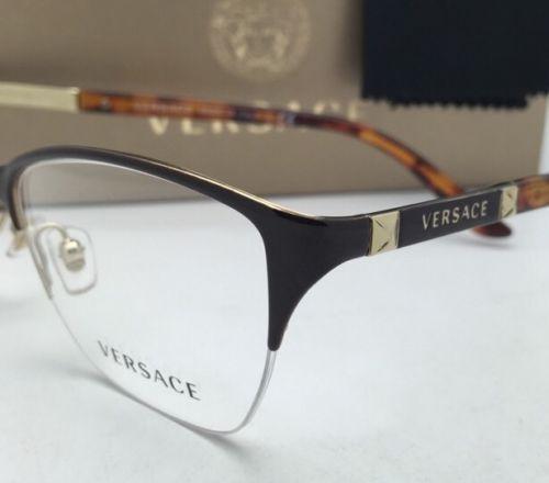 55e6297d7f392 New VERSACE Eyeglasses VE 1218 1344 53-17 Gold-Brown-Tortoise Semi-