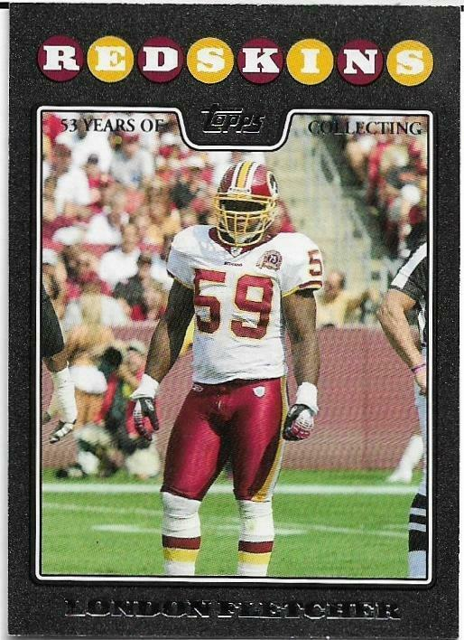 2008 TOPPS BLACK #237 LONDON FLETCHER 40/53 WASHINGTON REDSKINS FREE SHIPPING