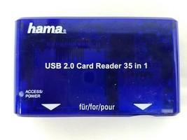 Hama USB 2.0 Multi Card Reader Writer 35in1 00055348 Micro SD CM I II TE... - $9.89
