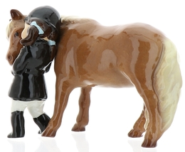 Hagen-Renaker Specialties Ceramic Horse Figurine Little Girl and Shetland Pony image 6