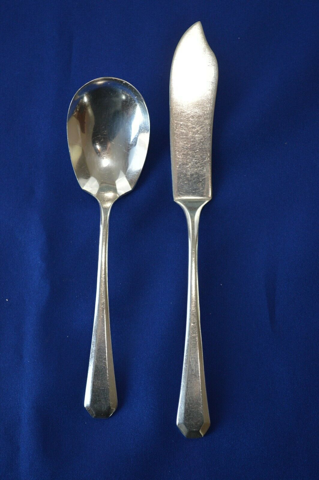Primary image for Wm Rogers MFG Co Lincoln 1917 Master Butter Knife & Sugar Spoon
