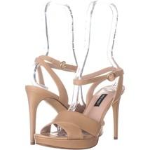 Nine West Quisha Criss Cross Ankle Strap Sandals 704, Light Natural, 8 US - £26.57 GBP