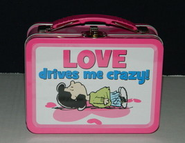 Peanuts Lucy, Love Illustrated Carry All Tin Tote Lunchbox, NEW UNUSED - $16.40