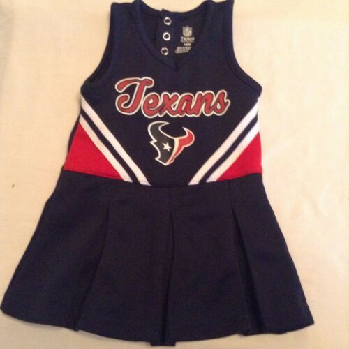 Primary image for NFL Team Apparel dress Size 18 mo Houston Texans cheerleader uniform blue