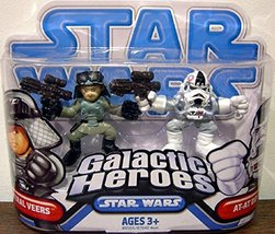 Star Wars 2009 Galactic Heroes 2-Pack AT-AT Driver and General Veers - $29.99