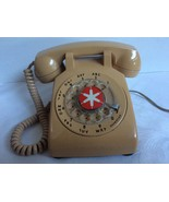 VTG ITT 1960's beige color Phone Rotary Dial Desk Top Telephone - $72.86