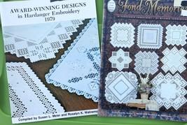 Award Winning Designs Hardanger Embroidery Keepsake Pattern Book Lot Doily  - $47.52