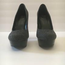 Jessica Simpson Gracex Gray Wool Round Toe Platform Pumps Heels Size 7.5 M  image 2