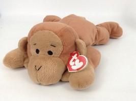 "Ty Classics Brown Swinger Monkey w Ribbon 13"" Plush Stuffed Toy New w Tags - $13.32"