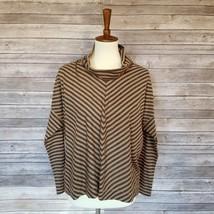 New ANN TAYLOR LOFT sz SP petite women mock neck stripe knit thin sweater I23 - $19.80