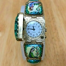 Vintage Yanka Russia Lady Enamel Art Painting Hand-Winding Mechanical Watch Hour image 2