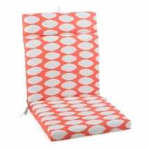 "Coral Dots Outdoor Patio Chair Cushion Pad Hinged Seat Back 44"" L x 22"" W - $58.90"