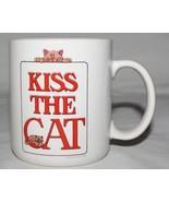 Kiss the Cat Mug Golden Cat 1982 Signed Myra Colby Marsh - $14.80