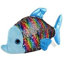 Athoinsu Flip Sequin Stuffed Fish Soft Plush Toy with Reversible Sparkle Sequins