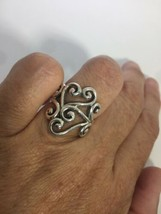 Vintage Deco Vine Wrap Filigree 925 Sterling Silver Size 5.5 Ring - $54.45