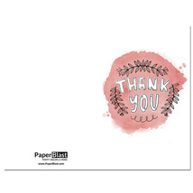 Pink Thank You Card --- with Custom Handwritten Message - mailed to your... - $2.23