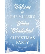 Winter Christmas Party Sign Winter Wonderland Christmas Welcome Sign USA - $15.99