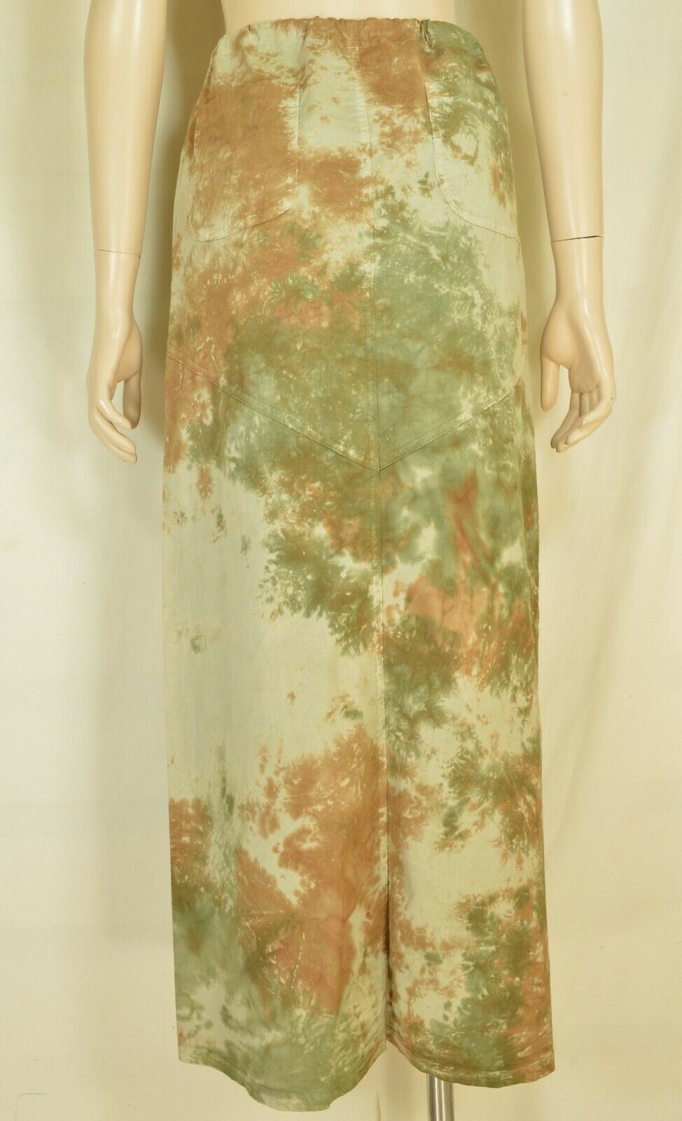 XCVI skirt XS ruching drawstring pockets camo long maxi