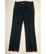 AK Anne Klein Women Size 6 Jeans Dark Wash Straight Leg Waist 29 Inseam 32 - $19.80