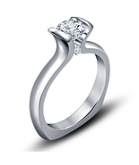 Lovely Designer Crystal Bridal Princess Wedding Finger Bridal  Ring - $4.99