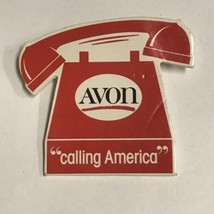 Avon Calling America Telephone Pin Button Vintage - $10.00