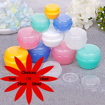 5gms/10gms/20gms/30gms Cosmetic Jar Containers w/ Lids in Random Colors - $9.49+