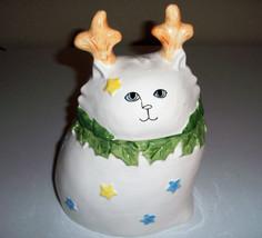 Shafford Cat Christmas 1986 Cookie Jar By Paula Best Bertholf Made In Japan - $59.99