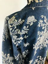 DENIM & CO Women's Jacket Blue Jean Floral Rose Flower Graphics Size Small $75 image 6