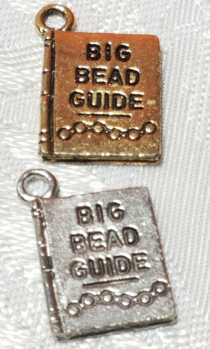 BIG BEAD GUIDE MANUAL FINE PEWTER PENDANT CHARM - 11x17x1mm