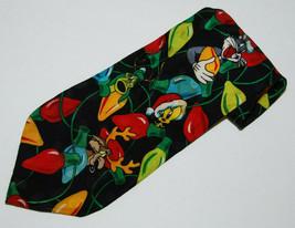 Looney Tunes Mens Necktie Tie 58 inch Silk Bugs Bunny Tweety Christmas L... - $8.43