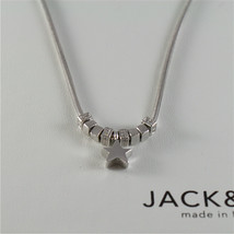 925 RHODIUM SILVER JACK&CO NECKLACE WITH SHINY STAR STARLET MADE IN ITALY image 2