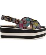 Gucci Peggy Logo GG Platform Womens Sandals Size 41 - $533.59