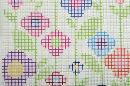 Fabric Editions Needle Creations Latch Hook Wall Hanging Kit-Flowers - $25.64