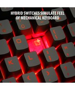 ENHANCE GX-K2 Gaming Keyboard with 104 Hybrid Mechanical Feel Keys - $34.99